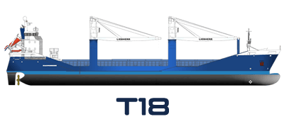 Drawing of Hartman Trader 18 type vessel